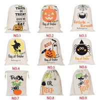 Hot Halloween Candy Saco do presente Saco deleite ou truque abóbora Printed Canvas Big Bags festa de Natal Halloween Festival Drawstring Bag