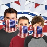 US Stock American Flag Drukowane Maska Ochronna Dorośli Dzieci Sporty Jazda Maska Bib Magiczny Ręcznik z filtrem FY7142