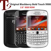 تم تجديده الأصلي BlackBerry Bold Touch 9900 الهواتف 2.8 بوصة 8 جيجابايت ROM 5MP كاميرا تعمل باللمس الهاتف المحمول 3G