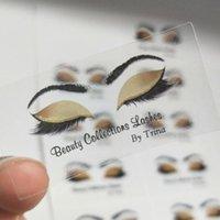 100/500 piezas personalizadas, de encargo adhesivos de PVC transparente, logotipo, las pestañas pegatinas, etiquetas de labios del lápiz labial, Lipgloss Tubos