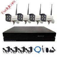 시스템 EVOLYLCAM 4CH / 8CH NVR 무선 2MP 1080P IP 카메라 ONVIF P2P WIFI 실외 IR 보안 감시 CCTV 시스템 키트