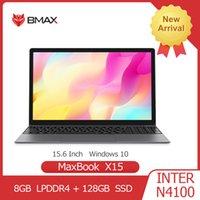أجهزة الكمبيوتر المحمولة BMAX X15 Laptop 15.6 بوصة Intel Gemini Lake N4100 UHD Graphics 600 8GB LPDDR4 128GB SSD 1920 * 1080 Win10 دفتر متعدد اللغات