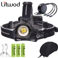 XHP70. 2 Led Head Lamp Headlamp Flashlight Torch Power Bank 7...