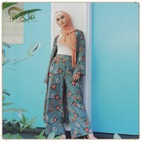 Абая Kimono Set Кафтан Robe Дубай Ислам Мусульманский Хиджаб платье Кафтан Marocain Рамазан Elbise Катар Оман Турецкая Исламская одежда