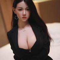 165см Большие сиськи взрослых секс кукла полный размер японский Силикон реалистичные куклы секса кремния голова с ТПЭ тела