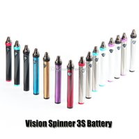 Vision Spinner 3S III IIIS 1600mAh Variable Voltage Top Twist USB Passthrough ESAM-T Battery For 510 Thread Atomizer Tank DHL