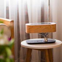 Luz del árbol de las ventas calientes moderna lámpara de mesa Con Wireless cargador y altavoz Bluetooth nórdica de madera