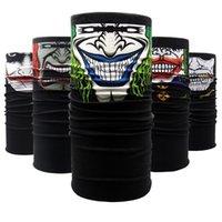 US-Stock-Außen Masken Multifunktions-Print Halloween Headwears Schal Nahtlos Bandanas Radfahren Masken Skeleton magischer Schal FY6097