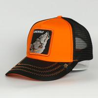 Gorras Hot Selling Multi Color Tiere LONE WOLF Breathable Mesh Trucker Hat Outdoor Sports Baseballmütze Männer