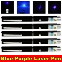 5PCAK 10Miles 1mw 405nm Blue Violet Laser Pen Pointer Beam Teaching Light Powerful Cat Toy High Power Blue Violet Laser