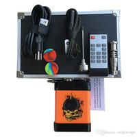 Menovo d'origine électrique Enail Nail télécommande Dabber TC température du boîtier de commande avec Ti ongles Carb Cap Pipes eau Bong Cire Vaporizer