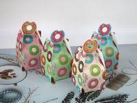 (100 PC / porción) caja de regalo adorable caramelo de la bolsa de la caja del buñuelo de la galleta por decoraciones de bodas y cumpleaños bolsa de regalo Embalaje Partido
