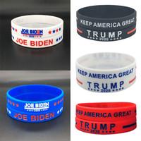 Trump Silikon-Armband Gummi Biden Vote-Support-Armband-Armbänder Make America Großer Donald Trump 2020 w-00179