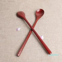 Long Handle Wood Coffee Spoon Old Lacquer Retro Spoons Seaso...