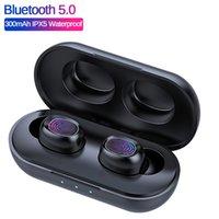TWS B5 5,0 écouteurs sans fil Bluetooth stéréo TWS F9 casque étanche Casque Touch Control Oreillettes Powerbank charge de cas avec micro