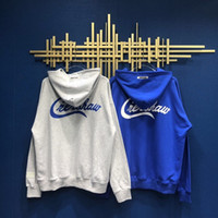 제 6 회 LA 분위기 한정 자수 로고 협업 HOODIE 대형 HOODY 남성 여성용 후드 스웨트 셔츠