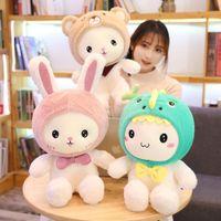 1шт 25-40cm Супер Kawaii Кролик Плюшевые игрушки Симпатичные Дракон Медведь Фаршированные Мягкая Сопровождать Подушка Дети подарок на день рождения куклы
