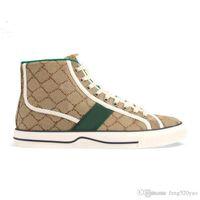 Gli uomini scarpe di tela casuali Nuovo Lace-up design stampato lettera scarpe da donna di lusso piatto sportivo in pelle scarpe signora Short dimensioni stivali 35-44 US4-10