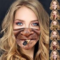 مضحك Mascarilla Reuseable تنفس الغبار القماش قناع الوجه المعلقة الأذن 3D الطباعة الكرتون التهوية حماية يوميا 4 5wsb D2