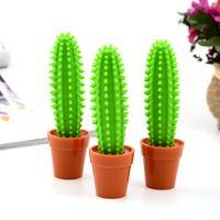 1Pcs Neuheit-Karikatur-Topfpflanze Kaktus Kugelschreiber Schüler-Lehrer-Schreiben Kugelschreiber-Briefpapier OfficeSchool Supplies
