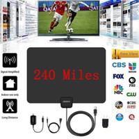 50 ميلا 1080p 25db hd الرقمية داخلي vhf uhf hdtv تليفزيون الهوائي إشارة حار بيع
