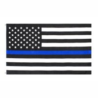 Direkte Fabrikgroßhandel 3x5FTs 90cmx150cm Gesetz Vollstreckungsbeamte USA US-amerikanische Polizei dünne blaue Linie Flagge DHB1088