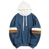 E-Baihui 2020 Streetwear Tops Men's Harajuku Striped Print Hoodie, Winter New Oversized Loose Casual Sweatshirt 002