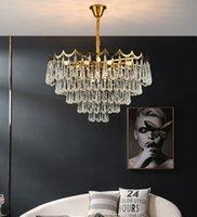 현대 LED 크리스탈 샹들리에 라운드 거실 크리스탈 펜 던 트 조명 바 카운터 천장 조명 모델 방 펜던트 램프
