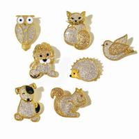 les femmes de bijoux design lucury Broche pigeon plein hibou renard chien pins animaux diamant lion écureuil hérisson mode broches mignon bijoux