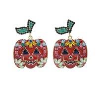 Мода Хэллоуин серьги 925 Серебряные серьги Красочный тыквы Хэллоуин серьги женщин ювелирные изделия