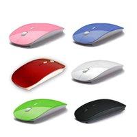 Neue Art-Süßigkeit-Farben-ultradünne drahtlose Maus und Empfänger 2.4G USB-optische Computer-Maus Bunte Mäuse DHL geben