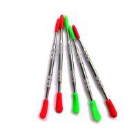 dabber herramienta de metal de la cera con las herramientas de puntas de silicona Cap 120 mm vaporizador DAB libre de DHL de la alta calidad