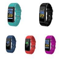 Coloré ID115 115 Plus Bracelets intelligents Universal pour Fitness Tracker Podomètre Portage sanguin Sport Moniteur Sports Fitness iOS Android