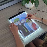 Nivel Dimmable LED Tablero de copia Tablero Dibujo Tablero Juguete Iluminado Escritorio de pintura transparente Educación creativa Juguetes para niñas LJ200922