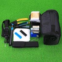 Freeshipping 13 PC / sistema FTTH fibra óptica Kit de herramientas con el FC-6S Cleaver y 5mW plástico localizador visual de fallos Herramienta pelacables