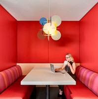 Moderne Macaron Farbe Acryl-Puzzle Pendelleuchten Studie Balkon Gastfamilie Kronleuchter Beleuchtung Schlafzimmer Nachtpendelleuchten