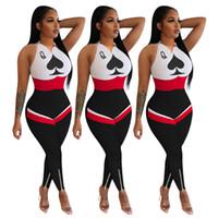 Vêtements Mode féminine Taille Plus Jumpsuit Sport Mode Casual Costume exposé Imprimé Taille Zipper Slim La nouvelle liste