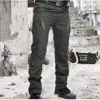 Trekkinghosen Männer vielen Taschen wasserdichtes Tragen Resistant beiläufige Ladung Hosen taktischen Kampf-Armee-Hose