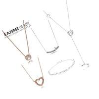 Fahmi 925 di 100% Forma sterlina cuore collana in argento di base gioielli Primavera Uccello in oro rosa adatti DIY donne originali gioielli all'ingrosso
