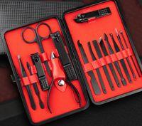 15pcs 매니큐어 세트 페디큐어 가위 트위터 칼 귀는 유틸리티 네일 클리퍼 키트, 스테인레스 스틸 네일 케어 도구 세트 무료 배송 선택
