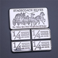 Northwest territoriali Mint 999 Belle Stagecoach Argento regalo divisibile Bar Coin Metal Crafts Nessun magnetico 1OZ Silver Bar