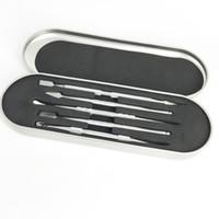 소매 살짝 적셔 도구 키트 Dabber 드라이 허브 기화기 펜 왁스 분무기 티타늄 네일을위한 도구 106-121mm 알루미늄 상자 포장 선택