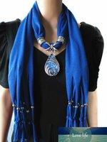 Goutte d'alliage résine pendentif écharpe bijoux perles collier charme charme foulards 10 couleurs prix usine experte qualité qualité style statut original