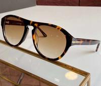 AUSTIN ft0677 Habana luz de la sombra pardo / Gafas de sol Gafas de sol Sonnenbrille hombres moda gafas de sol de piloto nuevo con la caja