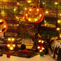 Notte Light Festival Pratico durevole partito Spider Bat Porta Halloween luce leggiadramente a pile della zucca decorazione forma
