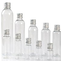 100 x 5 ml 8 ml 10ml 20ml 30ml Tube plastique aluminium capuchon Transparente Leakproof d'étanchéité Petite Vider Médecine Bouteilles cosmétiques Exemples PET