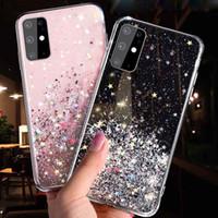 Блеск Bling Блестки телефон дела для Samsung Galaxy S10 S9 S8 S20 Plus Ultra Примечание 8 9 10 A51 A71 A11 Мягкая Epoxy Clear Luxury Phone Cover