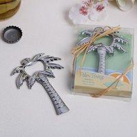 Livraison gratuite « Palm Breeze » Chrome Palmier Bouteille de bière douche nuptiale mariage Opener faveur cadeau SN1457