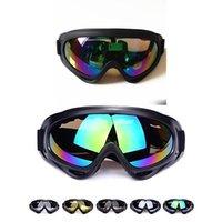4 نظارات اللون أسود إطار نظارات الثلج صامد للريح UV400 للدراجات النارية الثلج تزلج الرياضة حماية سلامة النظارات