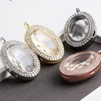 4 Farben Mode Floating Medaillon Kristall Living Memory Foto Anhänger Für Frauen Männer Liebhaber Halskette Schmuck